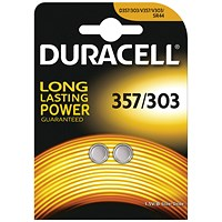 Duracell 1.5V Silver Oxide Button Battery (Pack of 2)