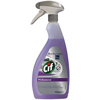 Cif Professional 2-in-1 Cleaner and Disinfectant 750ml