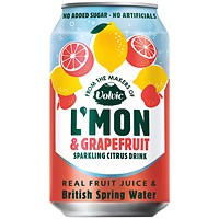 Volvic LMon Lemon and Grapefruit - Pack of 12