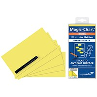 Legamaster Magic Notes 200x100mm Yellow with Pen (Pack of 100)