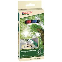 Edding E-21/4 EcoLine Permanent Marker Assorted (Pack of 4)