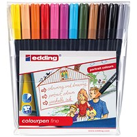 Edding Colour Pen Fine (Pack of 12)