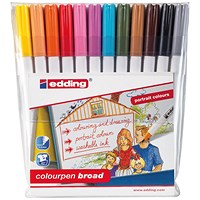 Edding Colourpen Broad (Pack of 12)