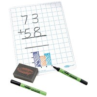 Show-me Whiteboard / A4 / Squared / Pack of 35
