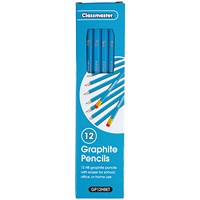 Classmaster HB Pencil Eraser Tip (Pack of 12)