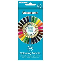 Classmaster Colouring Pencils, Assorted, Pack of 24