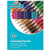 Classmaster Colouring Pencils, Assorted, Pack of 36