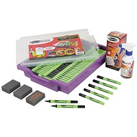 Show-me Drywipe Pens in Gratnells Tray, Tray of 200 Pens
