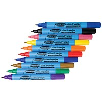 Show-me Drywipe Marker Fine Tip Assorted (Pack of 10) FSDP10A