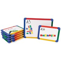 Show-me Rainbow Framed Magnetic Whiteboard / A3 / Pack of 5