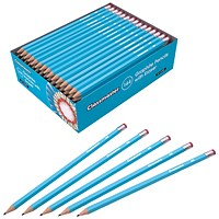 Classmaster Pencils with Eraser, HB, Eraser Tip, Pack of 144