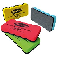 Show-me Magnetic Whiteboard Eraser Assorted (Pack of 4)