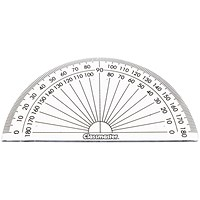 Classmaster 180 Degree Protractor Clear (Pack of 10)