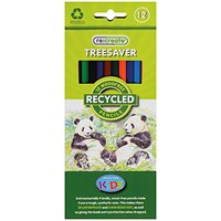 ReCreate Treesaver Recycled Colouring Pencils (Pack of 12)