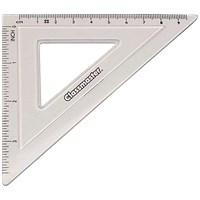 Classmaster 45 Degree Set Square Clear (Pack of 30)