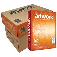 Artwork Multifunctional Paper, White, 75gsm, A4, Box (5 x 500 Sheets)