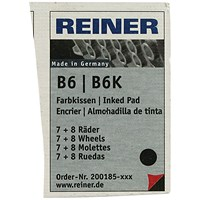 COLOP Reiner B6/8K Replacement Ink Pad Black (Pack of 2)