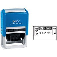 COLOP Printer 38 Self Inking Date and Message Stamp RECEIVED C133751REC