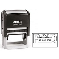 COLOP Printer 38 Self Inking Date and Message Stamp PAID