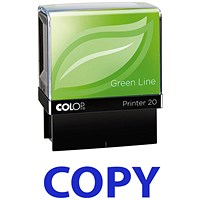 COLOP Green Line Word Stamp COPY Blue (Impression size: 38 x 14mm)