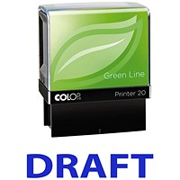 COLOP Green Line Word Stamp DRAFT Blue (Impression size: 38 x 14mm)
