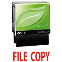 COLOP Green Line Word Stamp File COPY Red