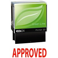 COLOP Green Line Word Stamp APPROVED Red
