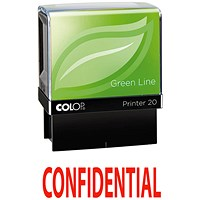 COLOP Green Line Word Stamp CONFIDENTIAL Red GLP20CONF