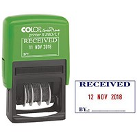 COLOP S260/L1 Green Line Text and Date Stamp RECEIVED 15560150