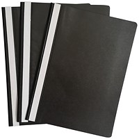 Graffico Project Folder A4 Black (Pack of 100)