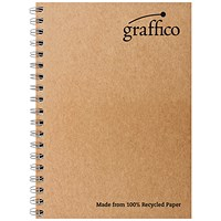 Graffico Recycled Wirebound Notebook 160Pg A4 (Pack of 10)
