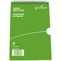 Graffico Recycled Shorthand Notebook 160 Pages 203x127mm