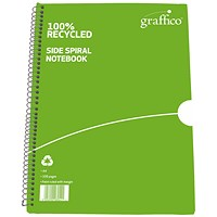 Graffico Recycled Wirebound Notebook 100 Pages A4 (Pack of 10)