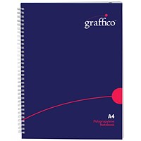 Graffico Hard Cover Wirebound Notebook 160 Pages A4