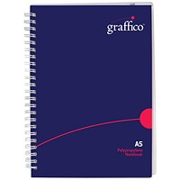Graffico Hard Cover Wirebound Notebook 160 Pages A5