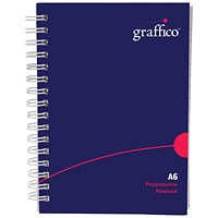 Graffico Hard Cover Wirebound Notebook 160 Pages A6