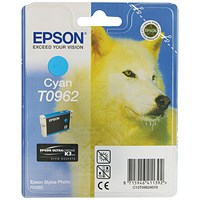 Epson T0962 Cyan UltraChrome K3 Inkjet Cartridge