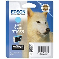 Epson T0965 Light Cyan UltraChrome K3 Inkjet Cartridge