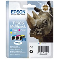 Epson T1006 DURABrite Ultra Inkjet Cartridge Multipack - Cyan, Magenta and Yellow (3 Cartridges)