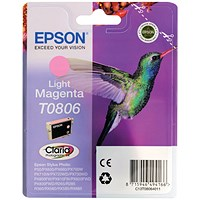 Epson T0806 Light Magenta Claria Inkjet Cartridge