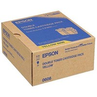 Epson S050606 Yellow Toner Cartridge Twin Pack (Pack of 2) C13S050606