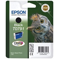Epson T0791 Black Claria Inkjet Cartridge