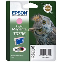Epson T0796 Light Magenta Claria Inkjet Cartridge