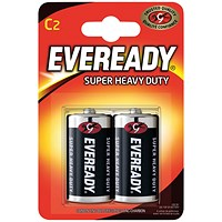 Eveready Super Heavy Duty C Batteries (Pack of 2)