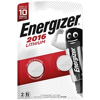 Energizer 2016/CR2016 Lithium Speciality Batteries (Pack of 2)