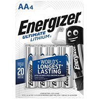 Energizer Ultimate AA Lithium Battery (Pack of 4)