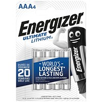 Energizer AAA Ultimate Lithium Batteries (Pack of 4)