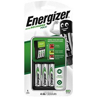 Energizer Maxi Battery Charger 4x AA Batteries 1300 Mah UK