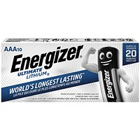Energizer Ultimate Lithium Battery, L92, 1.5V, AAA, Pack of 10
