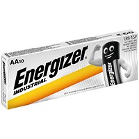 Energizer Industrial Long Life Battery, LR6, 1.5V, AA, Pack of 10